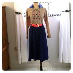 Women's Long Sleeve Midi Dress